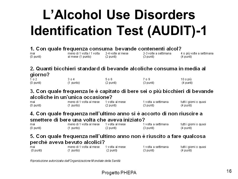 L'Alcohol Use Disorders Identification Test (AUDIT)-1