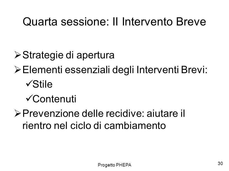 Quarta sessione: II Intervento Breve