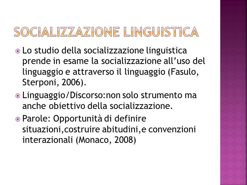 Socializzazione linguistica