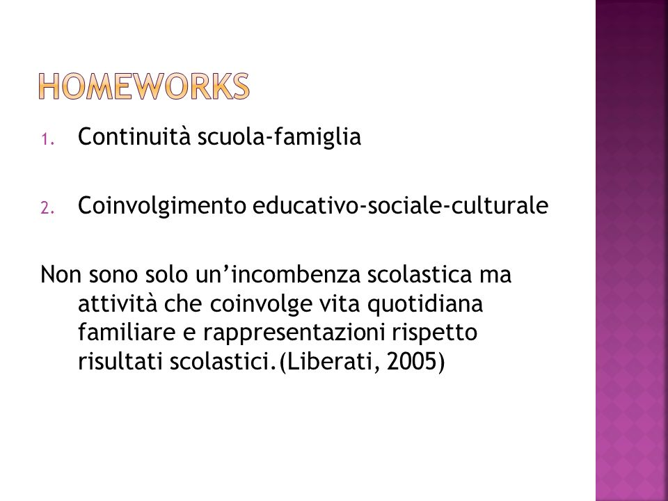 Homeworks Continuità scuola-famiglia