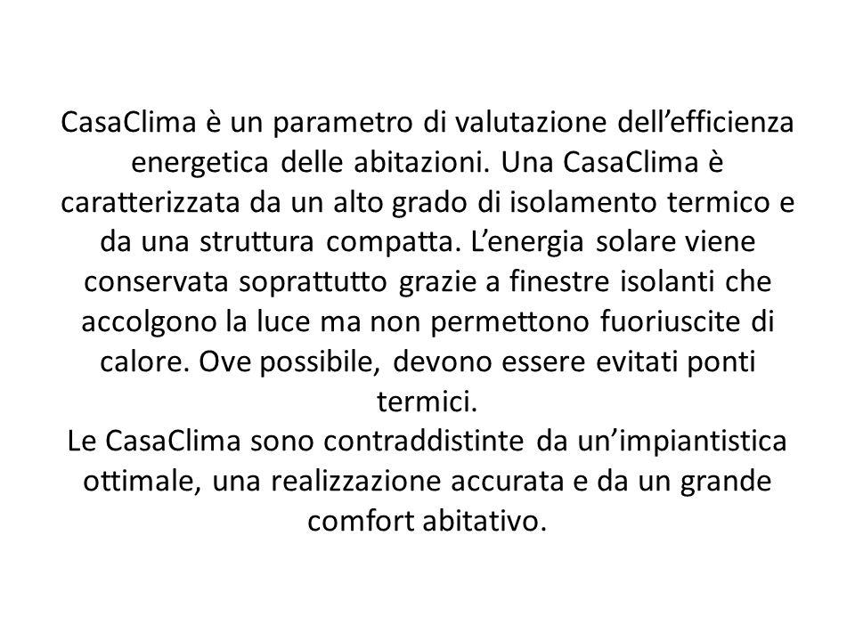 CasaClima è un parametro di valutazione dell'efficienza energetica delle abitazioni.
