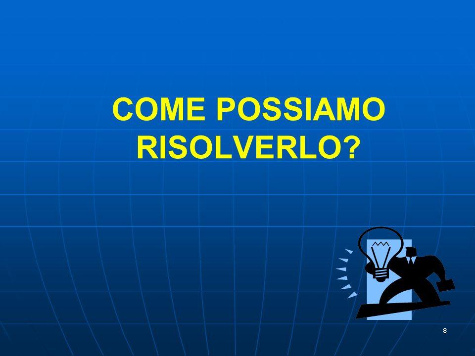 COME POSSIAMO RISOLVERLO