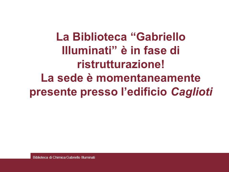 La Biblioteca Gabriello Illuminati è in fase di ristrutturazione