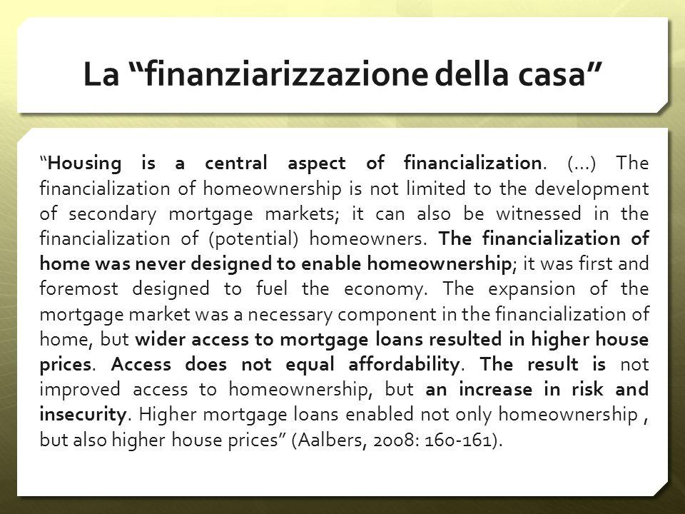 La finanziarizzazione della casa
