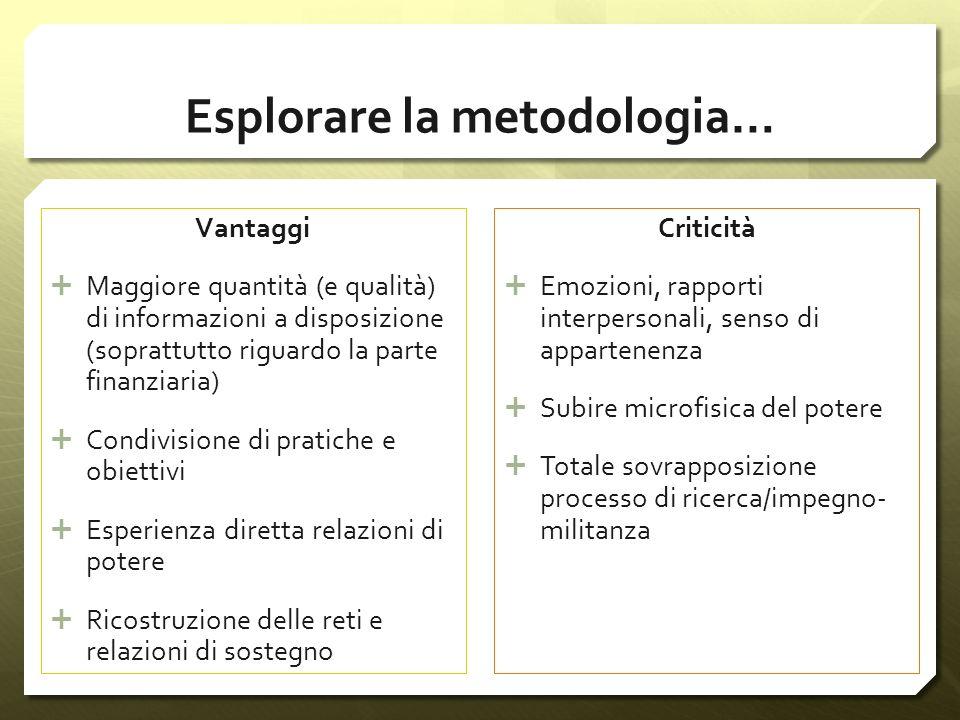 Esplorare la metodologia…