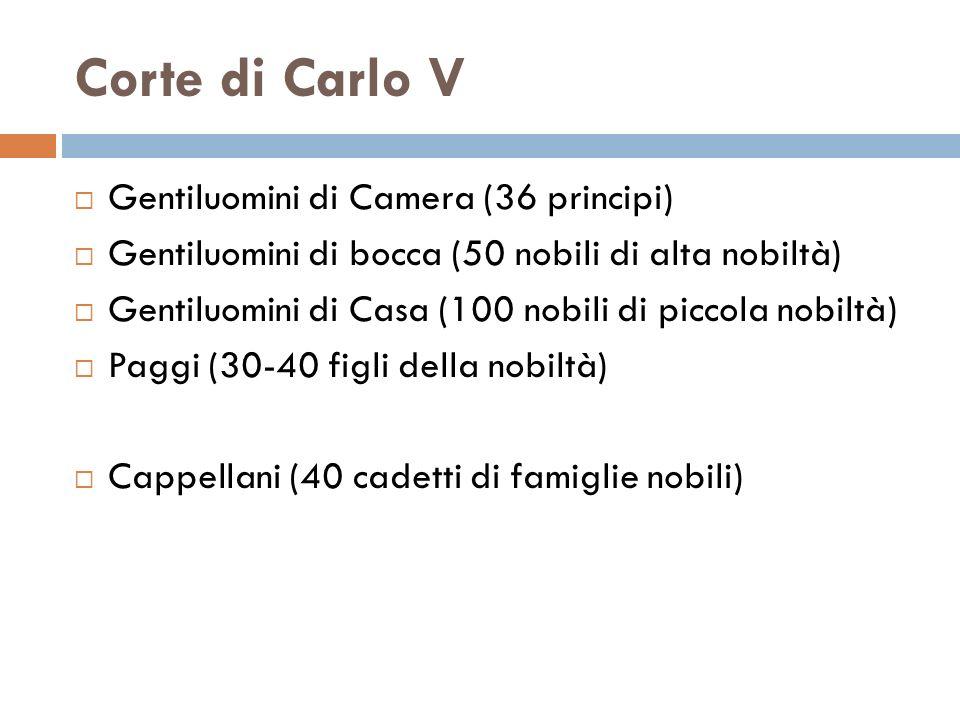 Corte di Carlo V Gentiluomini di Camera (36 principi)
