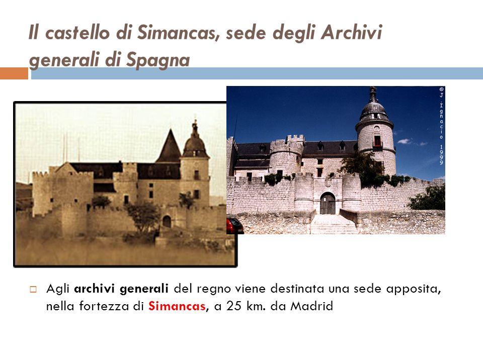 Il castello di Simancas, sede degli Archivi generali di Spagna