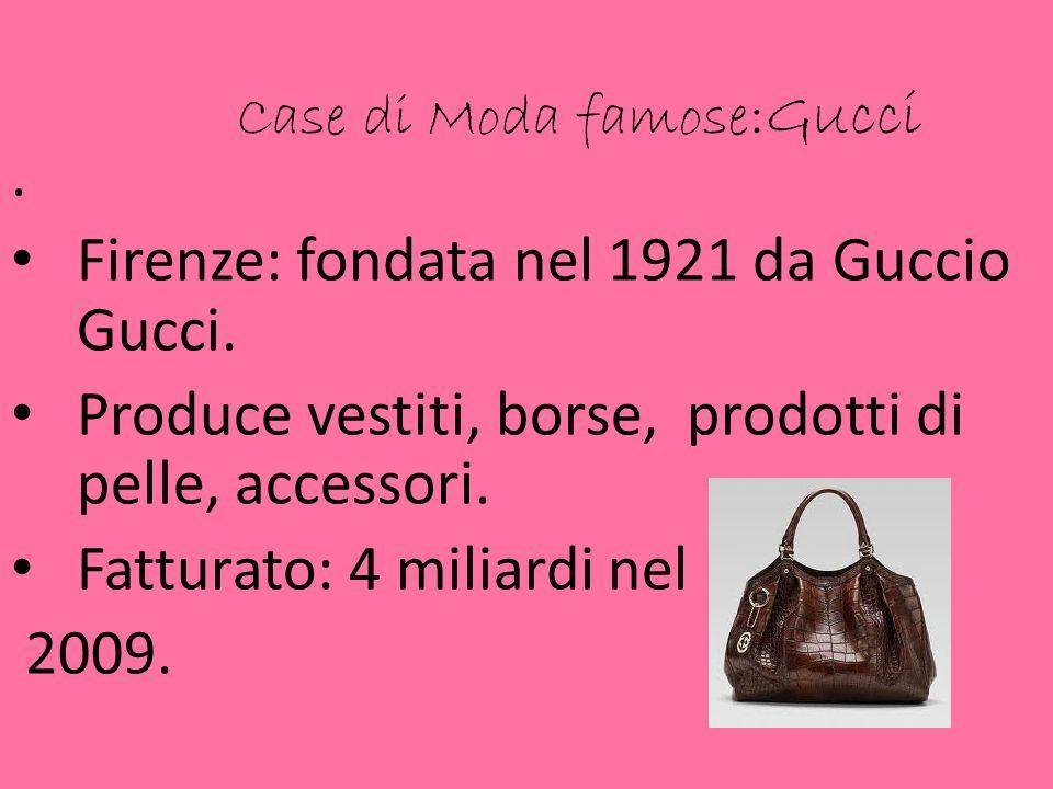 Case di Moda famose:Gucci