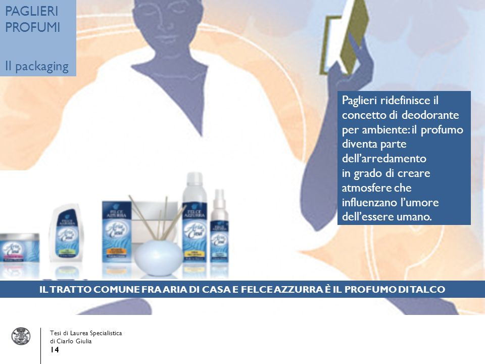 PAGLIERI PROFUMI Il packaging