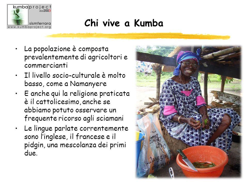 Chi vive a Kumba La popolazione è composta prevalentemente di agricoltori e commercianti. Il livello socio-culturale è molto basso, come a Namanyere.