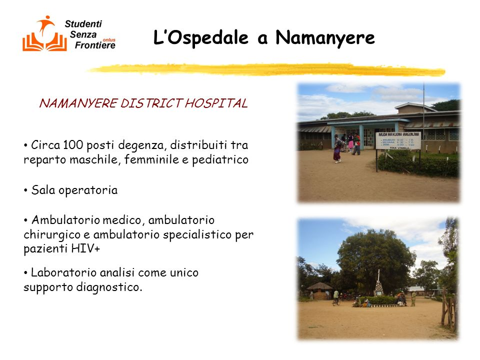 L'Ospedale a Namanyere