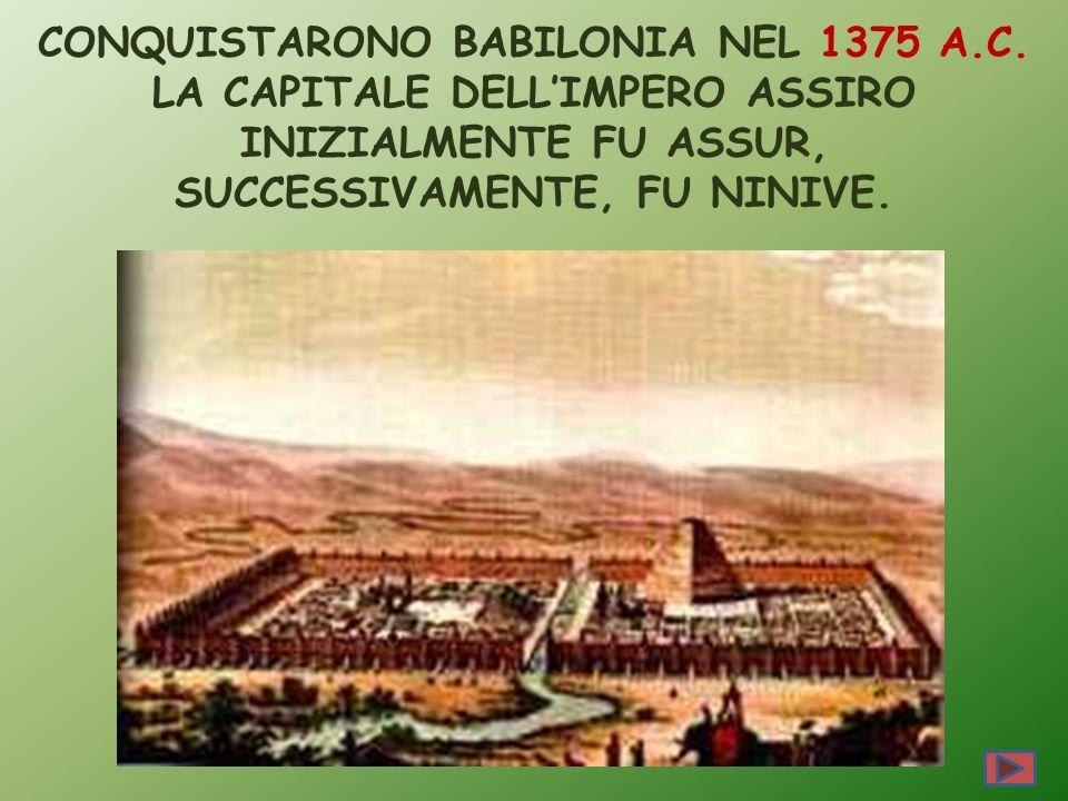 CONQUISTARONO BABILONIA NEL 1375 A. C