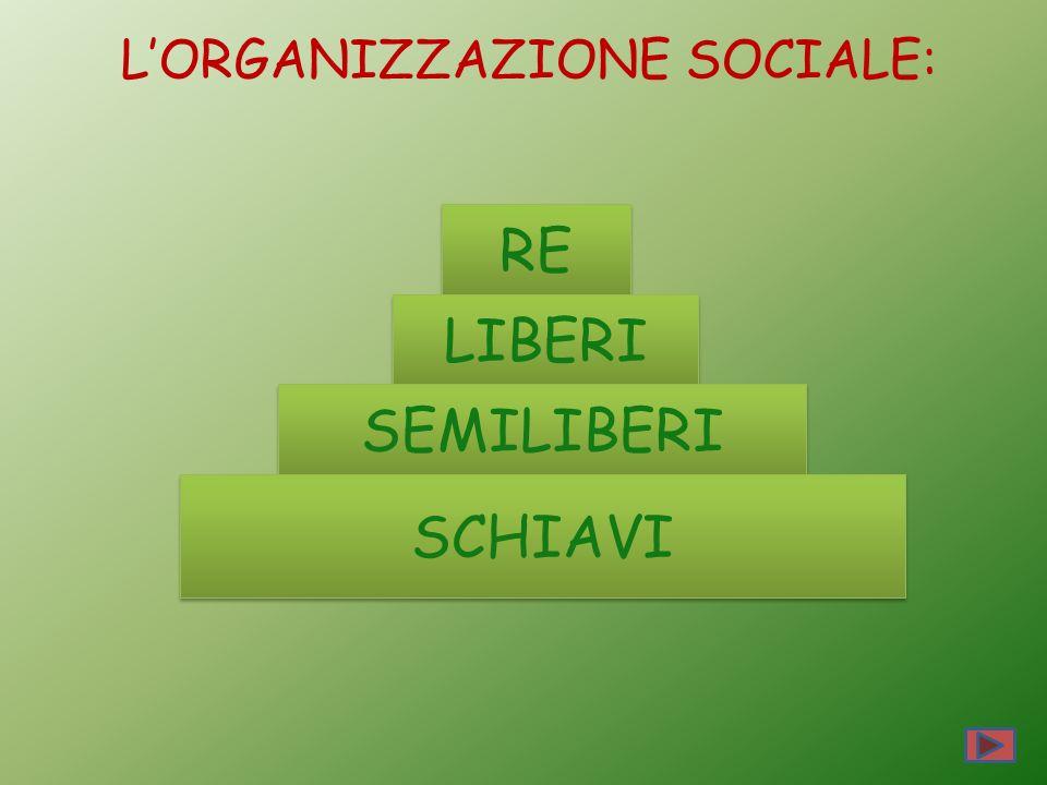 L'ORGANIZZAZIONE SOCIALE: