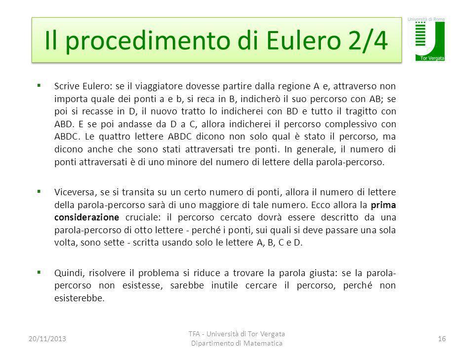 Il procedimento di Eulero 2/4