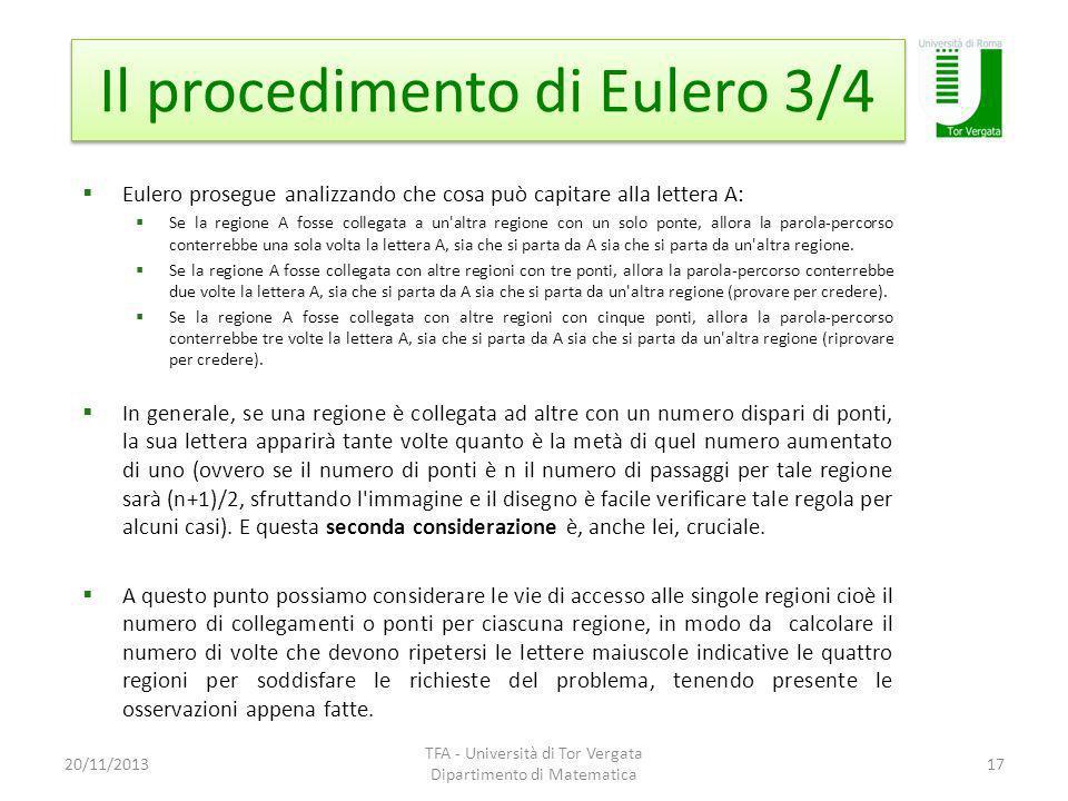 Il procedimento di Eulero 3/4