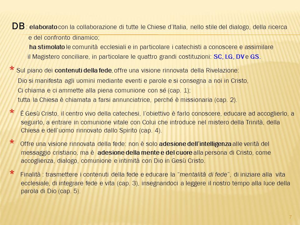 DB : elaborato con la collaborazione di tutte le Chiese d'Italia, nello stile del dialogo, della ricerca