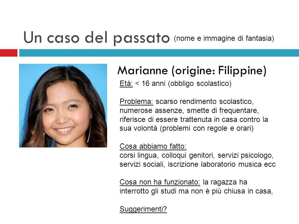 Un caso del passato Marianne (origine: Filippine)