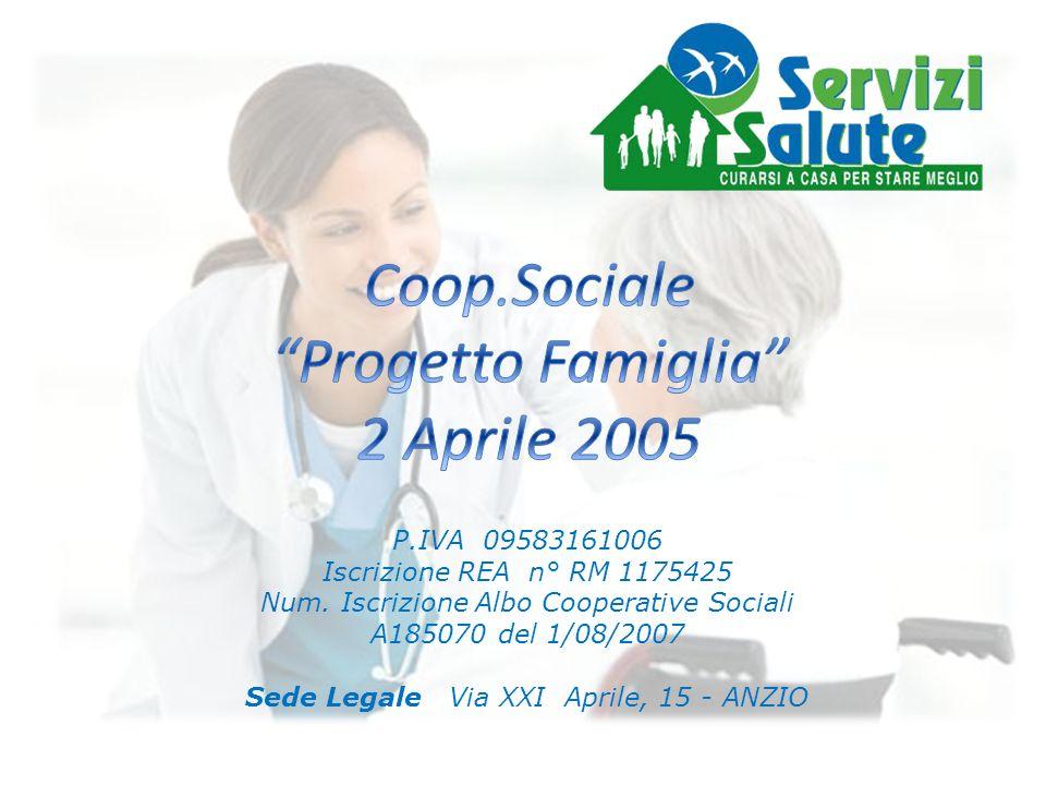 Coop.Sociale Progetto Famiglia 2 Aprile 2005 P.IVA 09583161006