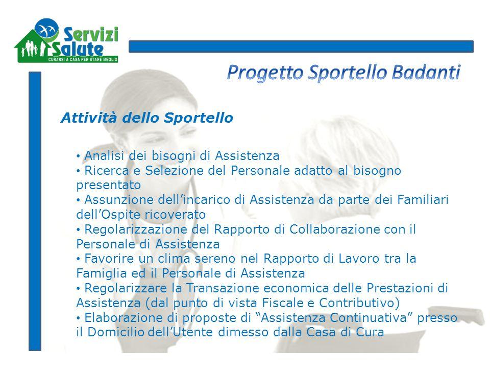 Progetto Sportello Badanti