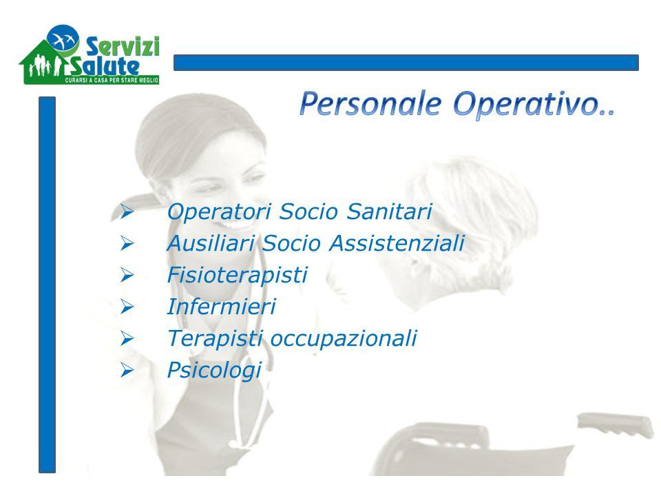Personale Operativo.. Operatori Socio Sanitari