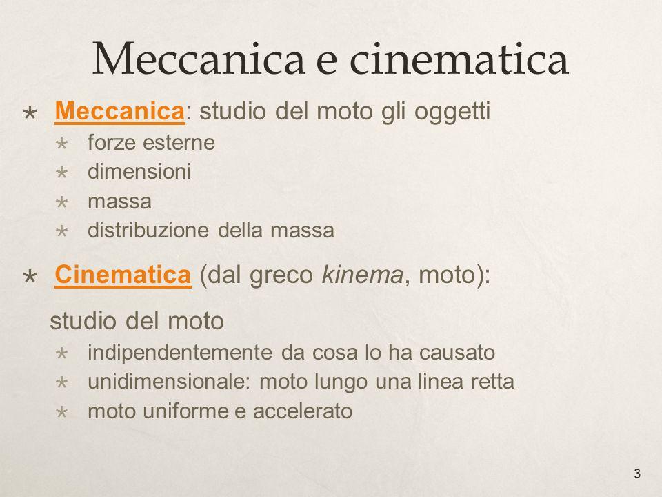 Meccanica e cinematica