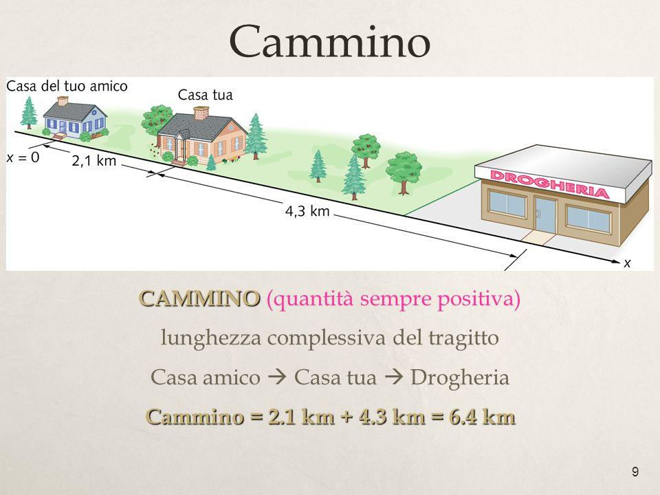 Cammino CAMMINO (quantità sempre positiva)