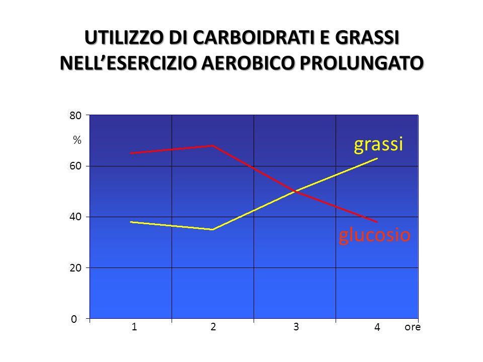 UTILIZZO DI CARBOIDRATI E GRASSI NELL'ESERCIZIO AEROBICO PROLUNGATO