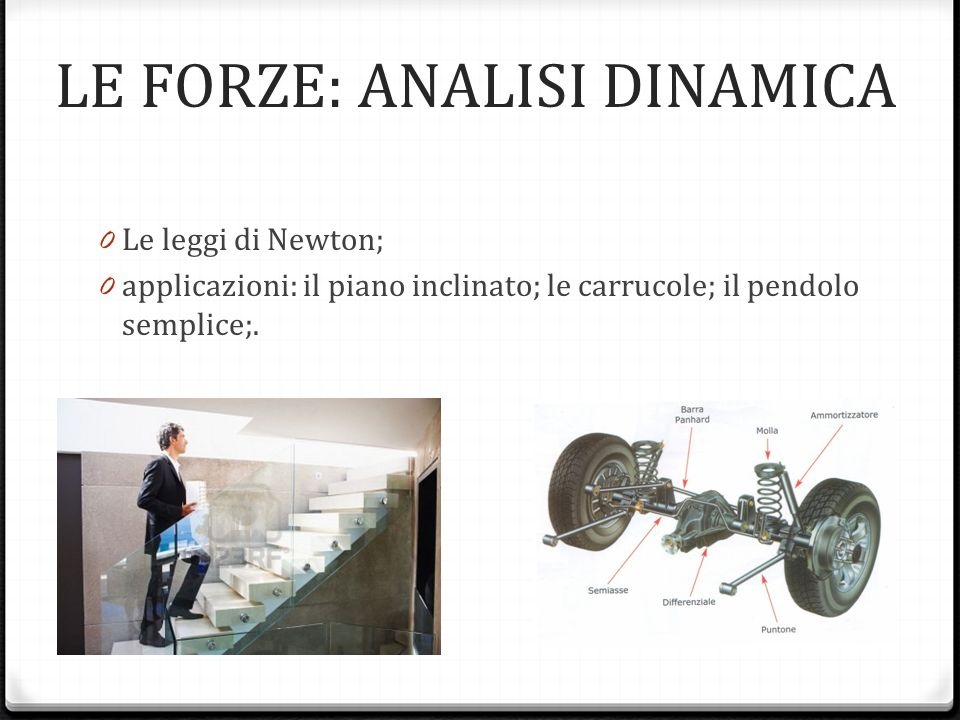 LE FORZE: ANALISI DINAMICA