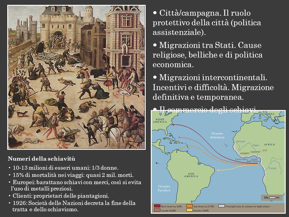  Il commercio degli schiavi.
