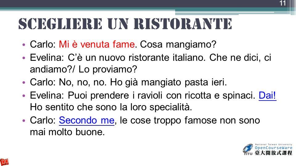 scegliere un ristorante