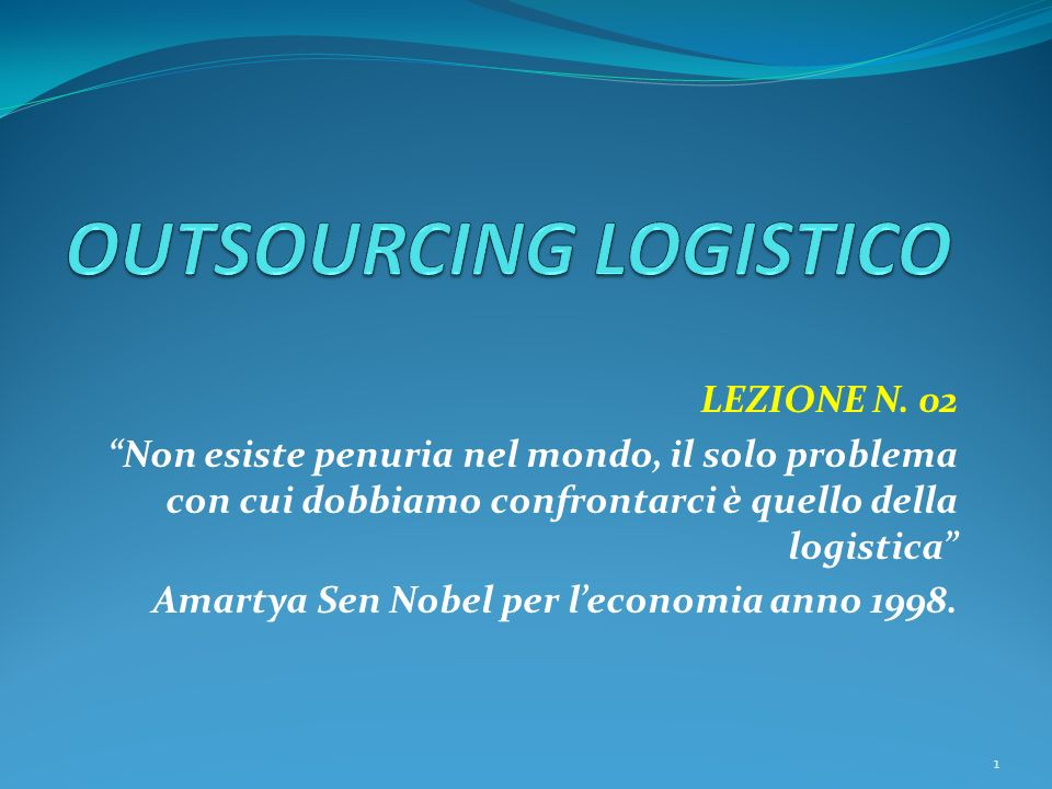 OUTSOURCING LOGISTICO