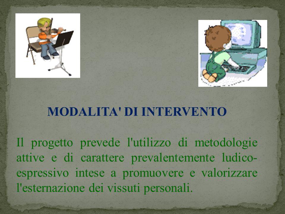 MODALITA DI INTERVENTO