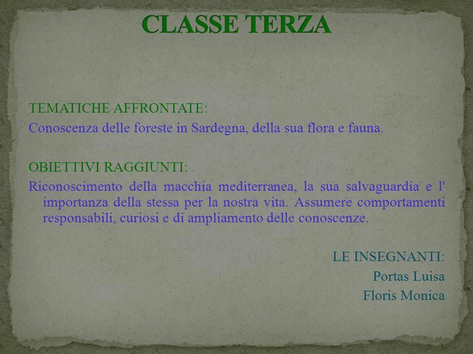 CLASSE TERZA TEMATICHE AFFRONTATE: