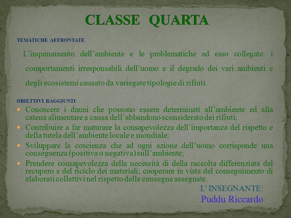 CLASSE QUARTA Puddu Riccardo