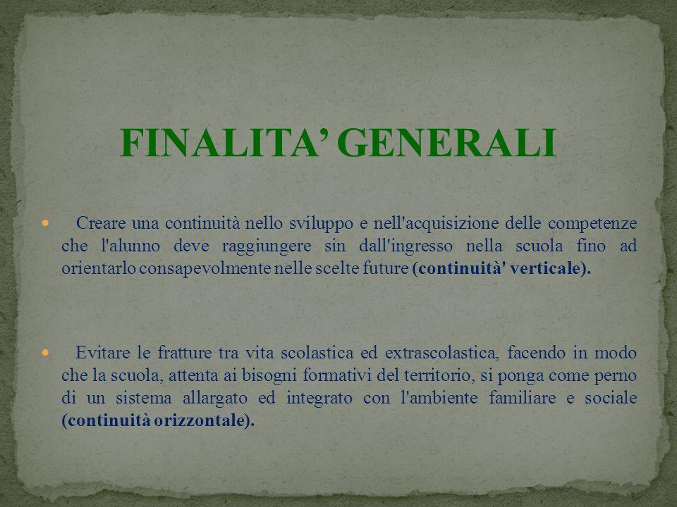 FINALITA' GENERALI
