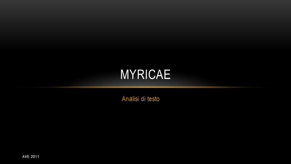 Myricae Analisi di testo ave 2011
