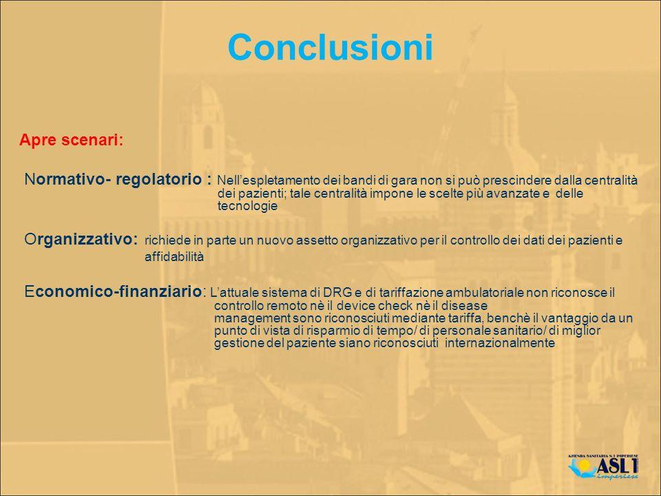 Conclusioni Apre scenari: