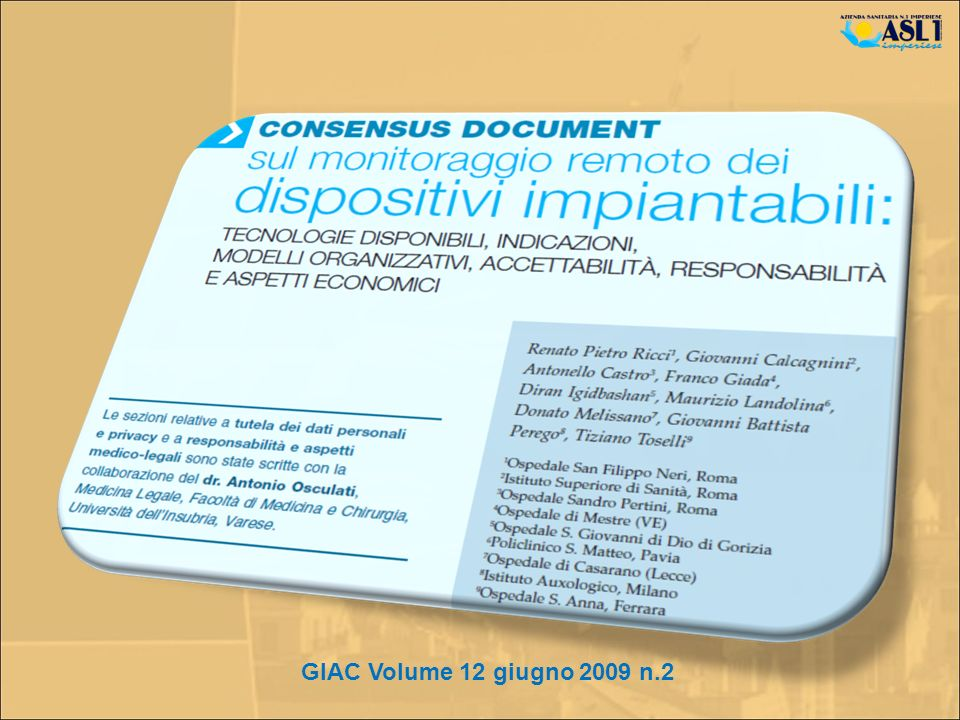 GIAC Volume 12 giugno 2009 n.2