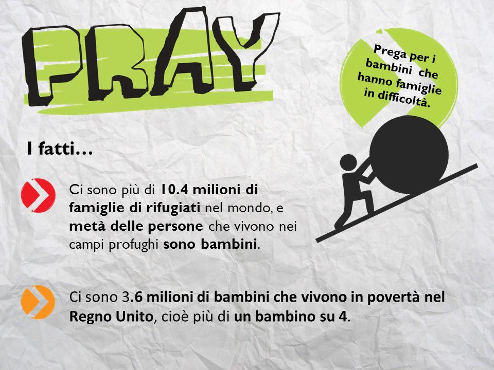 Prega per i bambini che hanno famiglie in difficoltà.