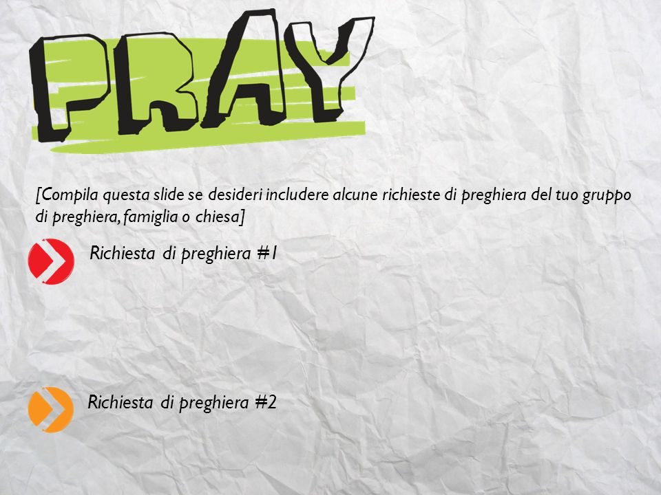Richiesta di preghiera #1