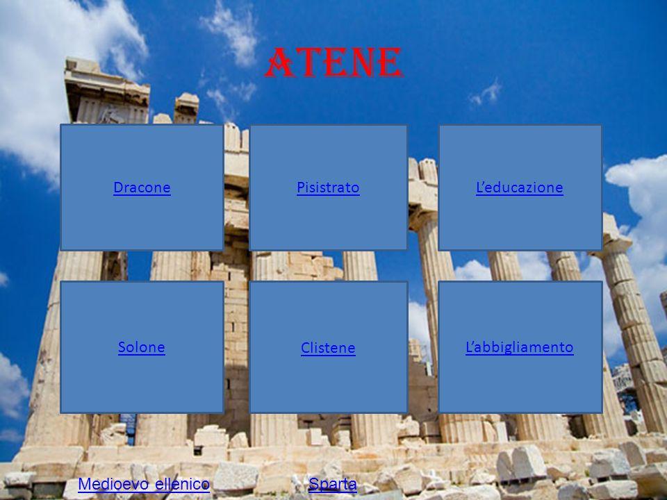 Atene Dracone Pisistrato L'educazione Solone Clistene L'abbigliamento