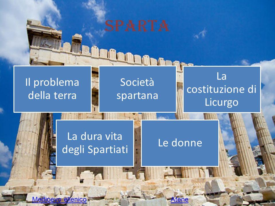 Sparta Il problema della terra Società spartana