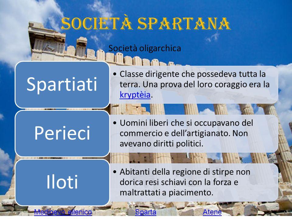 Società spartana Società oligarchica Medioevo ellenico Sparta Atene