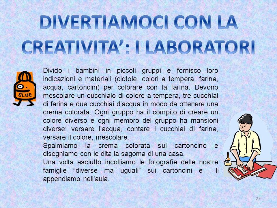 CREATIVITA': I LABORATORI