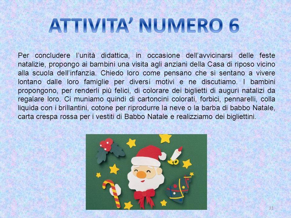 ATTIVITA' NUMERO 6