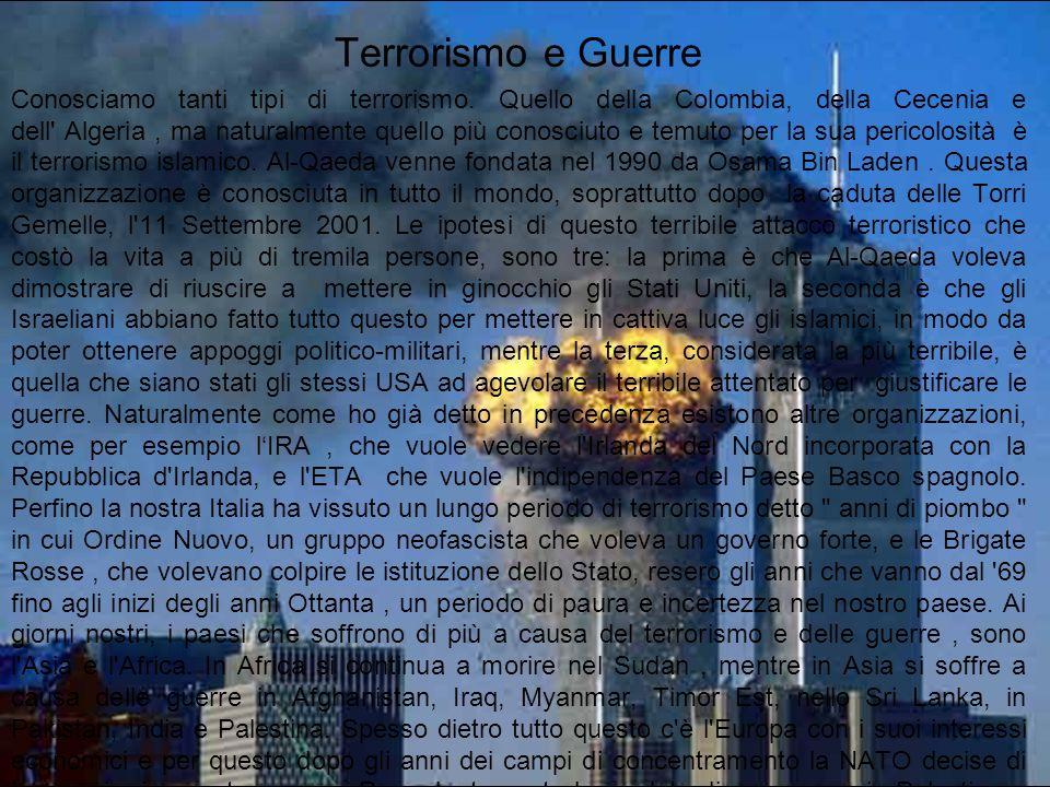 Terrorismo e Guerre