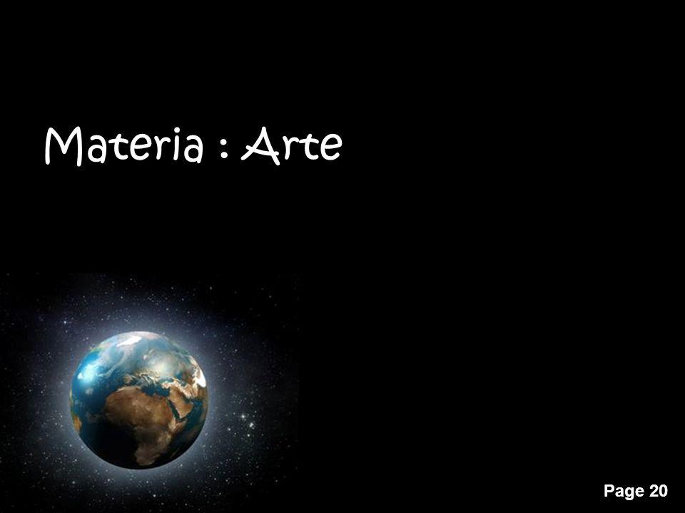 Materia : Arte