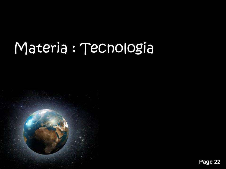 Materia : Tecnologia