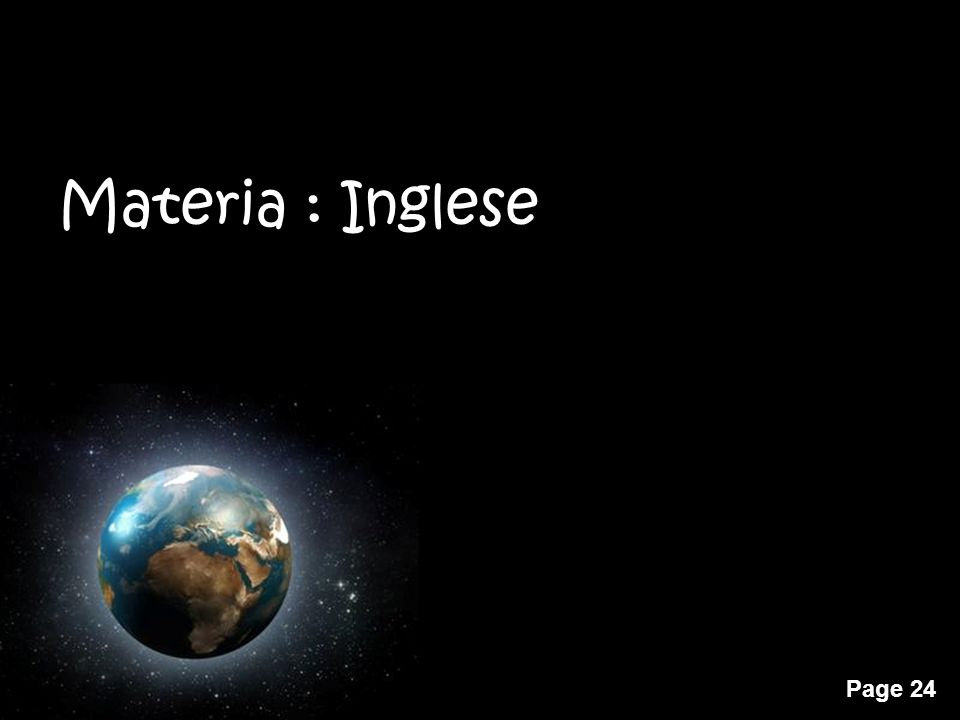 Materia : Inglese