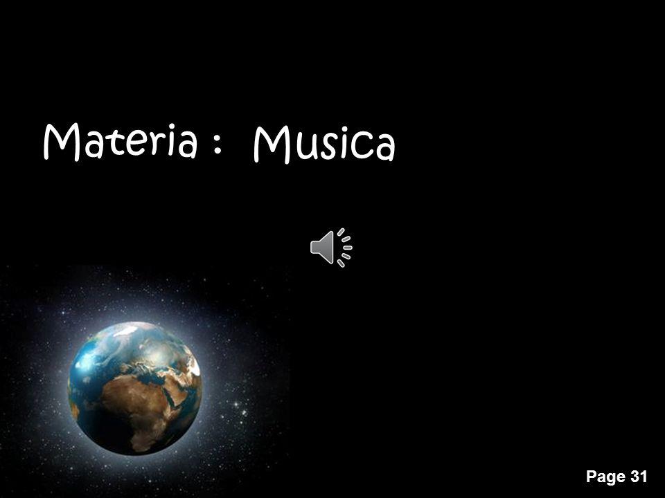 Materia : Musica